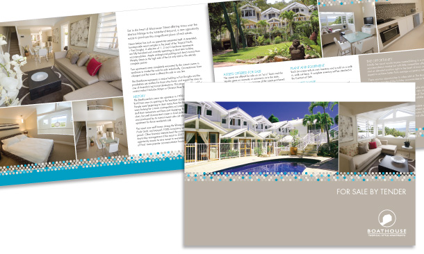 Coldwell Banker Barrier Reef Realty | 4-page Boathouse Apartments Marketing Brochure