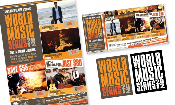 Tanks Arts Centre | 'World Music Series' Collateral