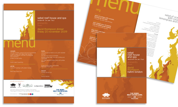 Sebel Reef House & Spa Palm Cove | David Thompson Culinary Event Booklet and Menu