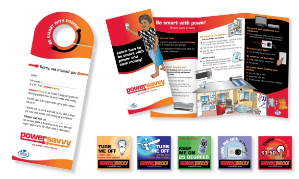 Ergon Energy | Powersavvy Promotional Collateral