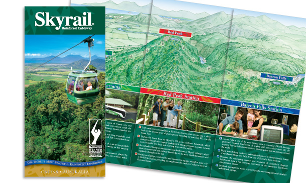 Skyrail Rainforest Cableway | 8-page Promotional Brochure