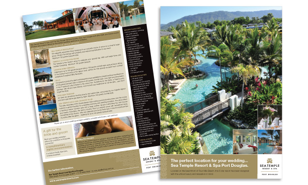 Sea Temple Resort & Spa Port Douglas | Weddings Fact Sheet/Sales Flyer