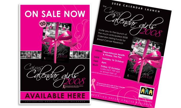 Cairns Calendar Girls | 2008 Calendar Marketing Collateral