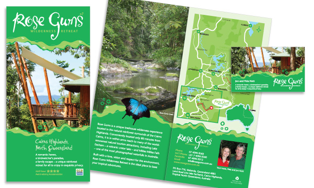 Rose Gums Wilderness Retreat | 12-page Fold-out Promotional Brochure