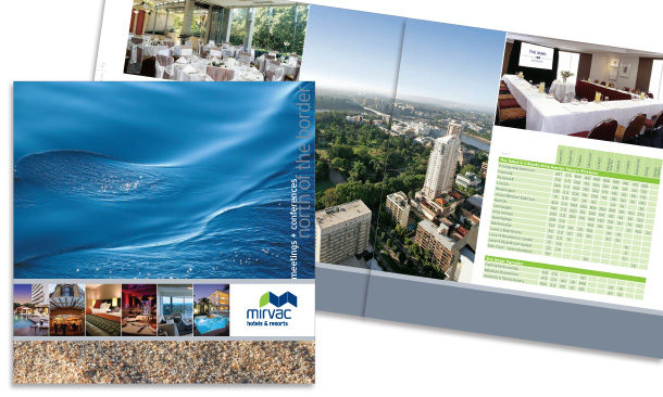 Mirvac Hotels & Resorts | 12-page Meetings and Conferences Booklet for South East Qld