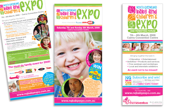 North Queensland Baby Expo | 2009 Expo Flyer and Banner